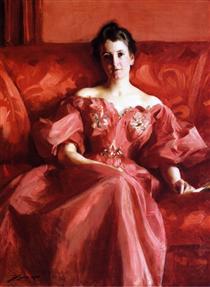 Portrait of Mrs. Howe - Alfred Stevens