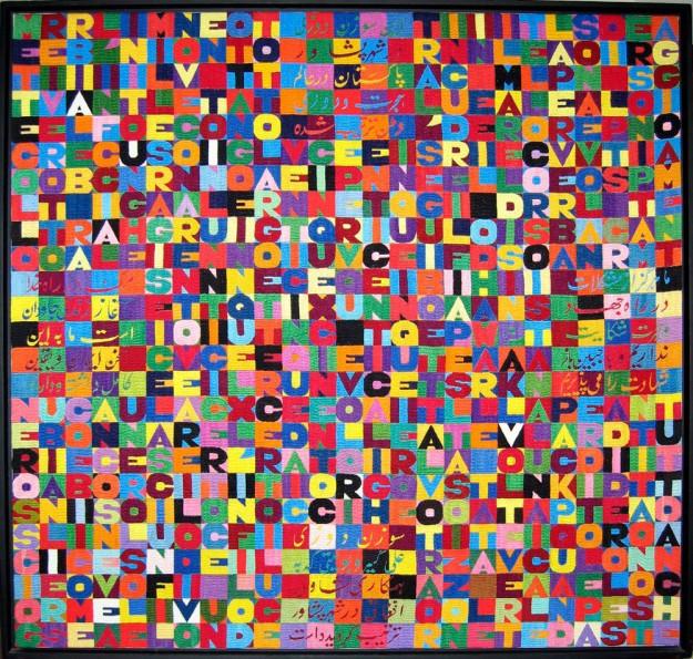 Mettere i verbi all'infinito millenovecento ottantotto..., 1988 - Alighiero Boetti