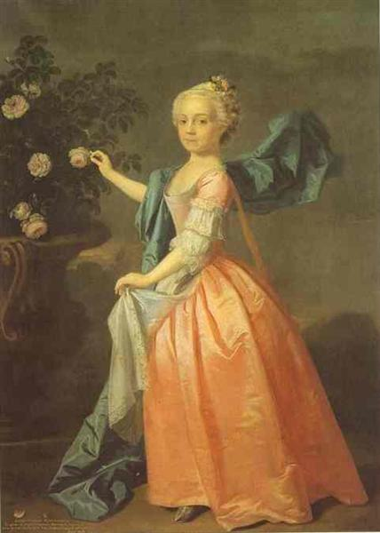 Portrait of Agnes Murray Kynnynmond, 1739 - Allan Ramsay