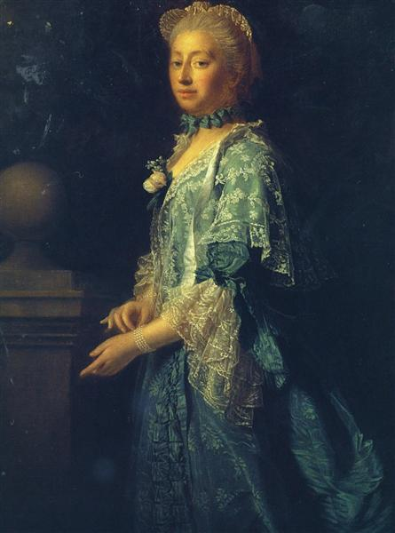 Portrait of Augusta of Saxe Gotha, Princess of Wales, 1759 - Allan Ramsay