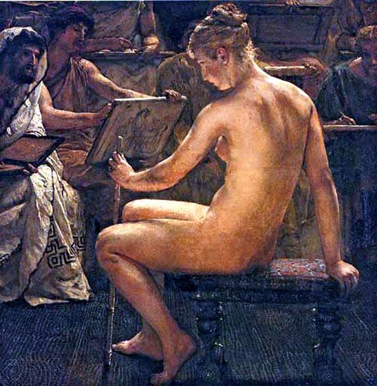 A Roman studio, 1877 - Sir Lawrence Alma-Tadema