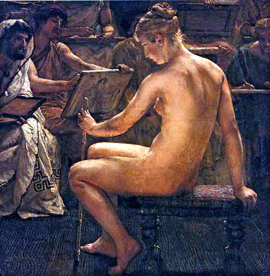 A Roman studio - Alma-Tadema Lawrence