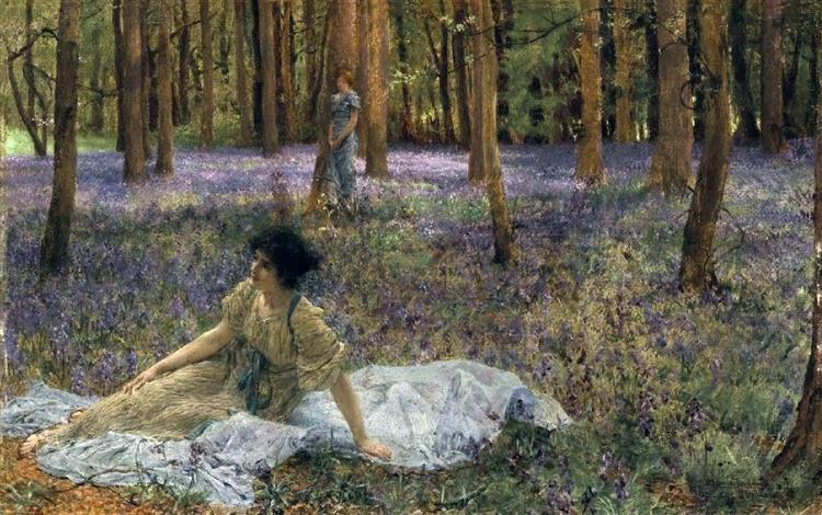 Bluebells - Sir Lawrence Alma-Tadema