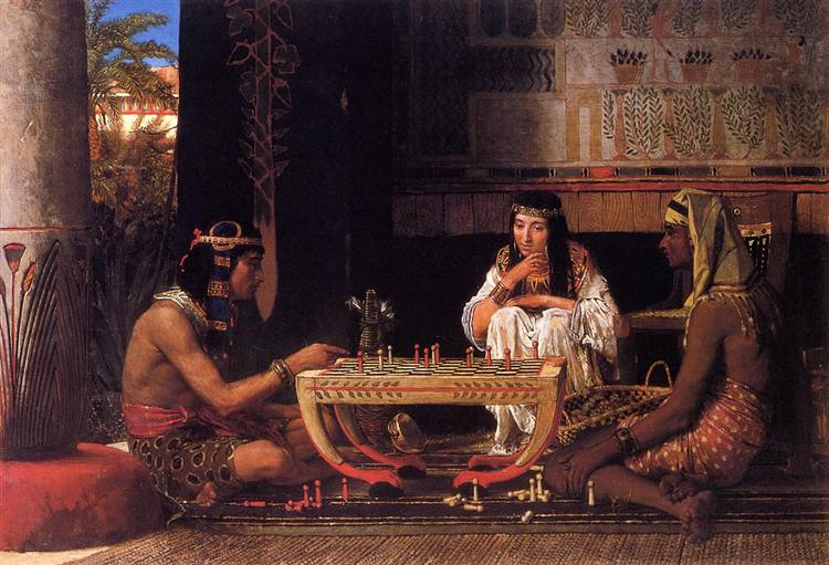 Egyptian Chess Players, 1865 - Lawrence Alma-Tadema