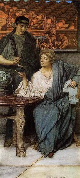 The Roman Wine Tasters, 1861 - Lawrence Alma-Tadema