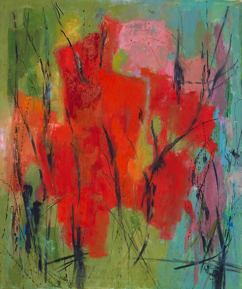 Red Abstraction, 1960 - Alma Woodsey Thomas