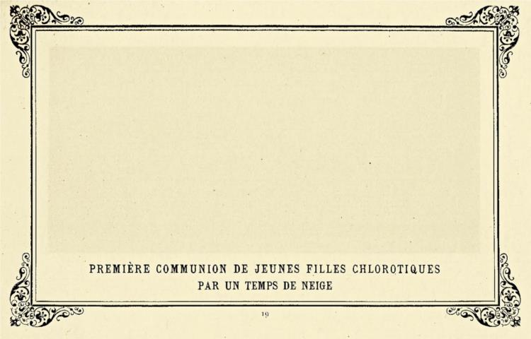 First Communion of Anaemic Young Girls in the Snow, 1883 - Alphonse Allais