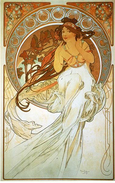 Music, 1898 - Alphonse Mucha