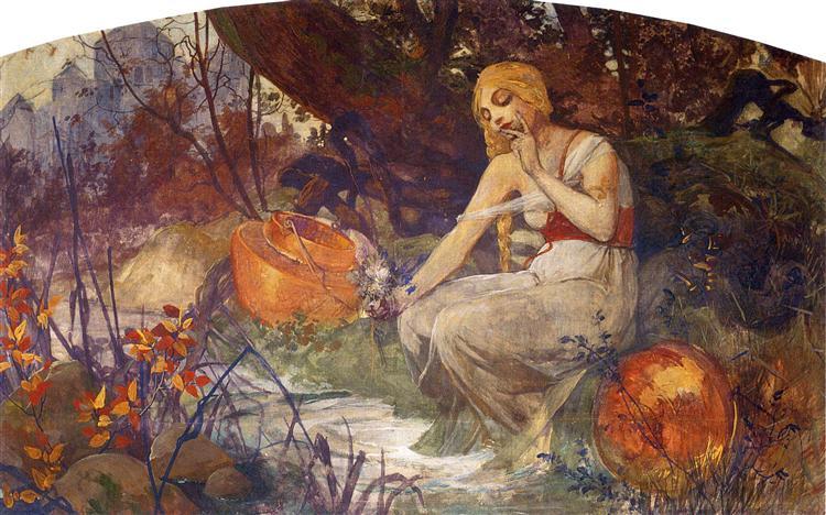 Prophetess, 1896 - Alphonse Mucha