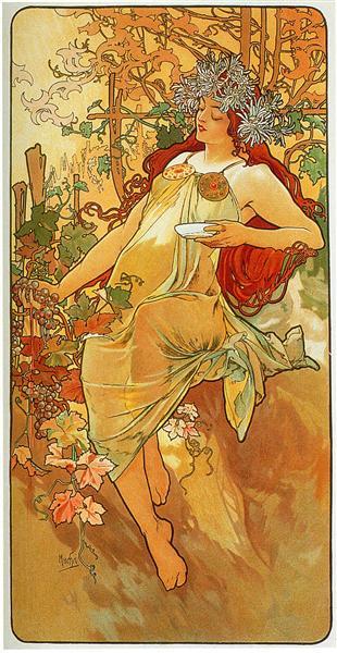 The Autumn - Alphonse Mucha