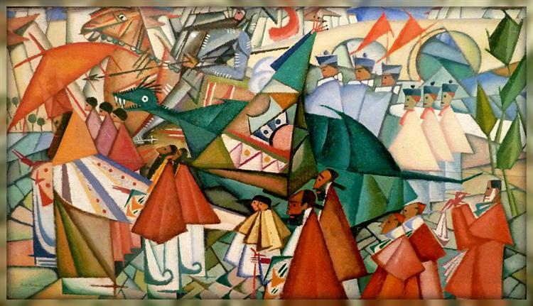 Corpus Christi procession, 1913 - Амадеу ди Соуза-Кардозу
