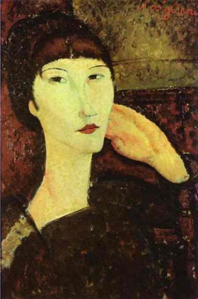 Adrienne (Woman with Bangs), 1917 - Amedeo Modigliani