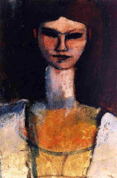 Bust of a Young Woman, 1919 - Amedeo Modigliani