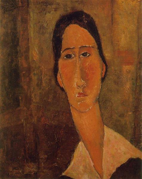 Jeanne Hebuterne with white collar, 1919 - Amedeo Modigliani
