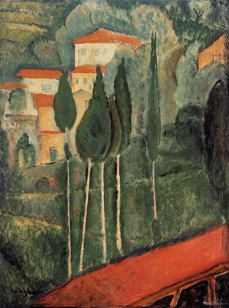 Landscape, Southern France, 1919 - Amedeo Modigliani