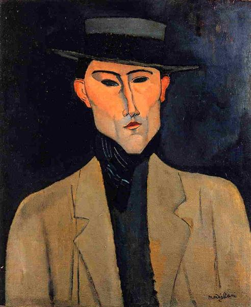 Portrait of a Man with Hat (Jose Pacheco ), c.1915 - Amedeo Modigliani