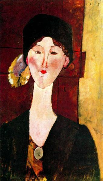 Portrait of Beatrice Hastings before a door, 1915 - Amedeo Modigliani