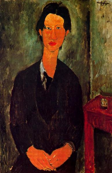 Portrait of Chaim Soutine, 1917 - Амедео Модільяні