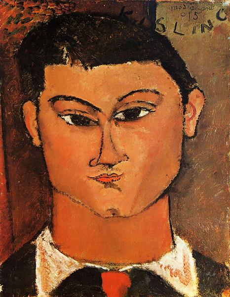Portrait of Moise Kisling, 1915 - Amedeo Modigliani