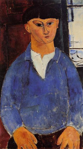 Portrait of Moise Kisling, 1916 - Amedeo Modigliani
