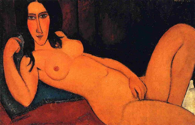 Reclining nude, 1917 - Amedeo Modigliani