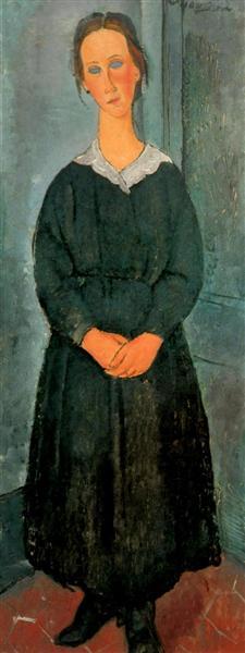 Servant Girl, c.1918 - Amedeo Modigliani