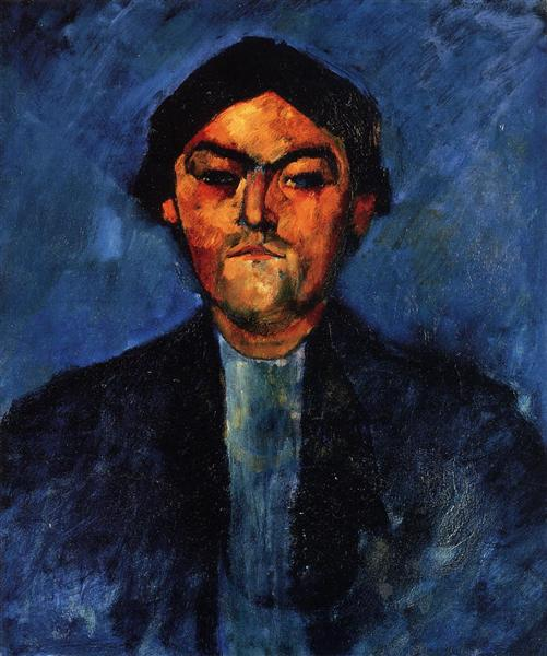 The Typographer (Pedro), c.1909 - Amedeo Modigliani