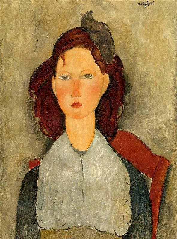Young girl seated – Amedeo Modigliani – 1918