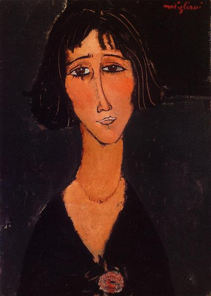 Young Girl Wearing a Rose, 1916 - Amedeo Modigliani
