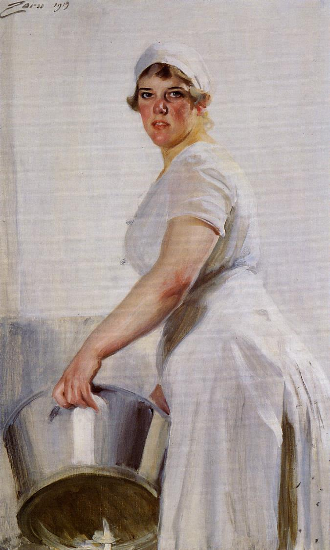 Interior Kitchen Maid a kitchen maid 1919 anders zorn wikiart org zorn