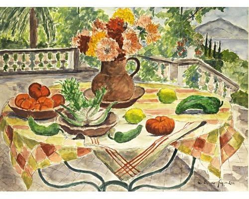Fenouil, poivrons et tomates, 1960 - Andre Dunoyer de Segonzac