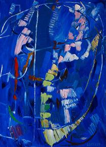 Abstraction bleue - André Lanskoy