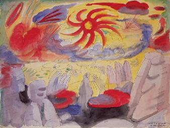 Dawn in Montserrat, 1935 - Andre Masson
