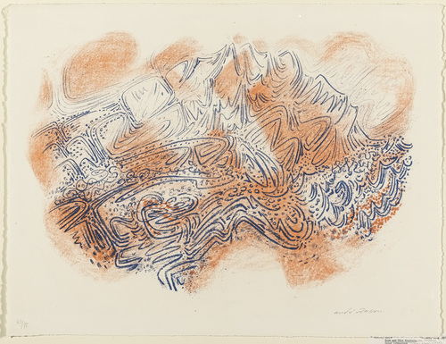 Rose and Blue Mountain, 1956 - Andre Masson