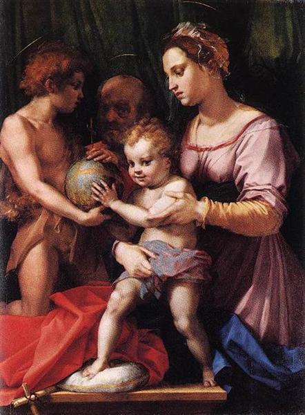 Holy Family (Borgherini), c.1529 - Andrea del Sarto