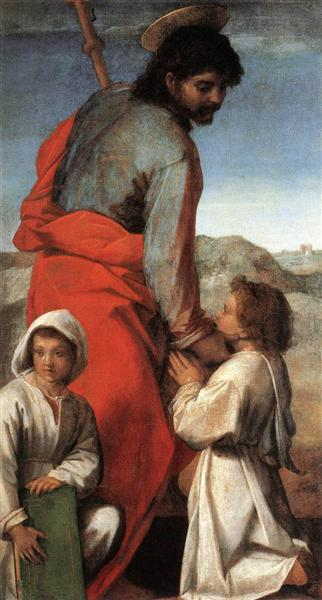 St. James with Two Children, 1528 - 1529 - Andrea del Sarto