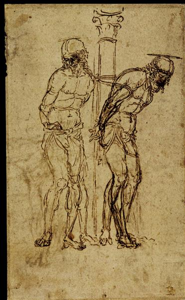 Two Studies for Christ at the Column, 1459 - Andrea Mantegna
