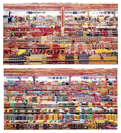 99 Cent II Diptychon, 2001 - Andreas Gursky