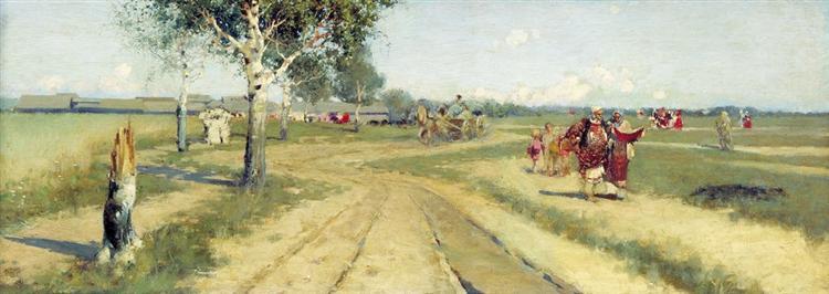 Coming Back from Fair, 1886 - Андрей Рябушкин