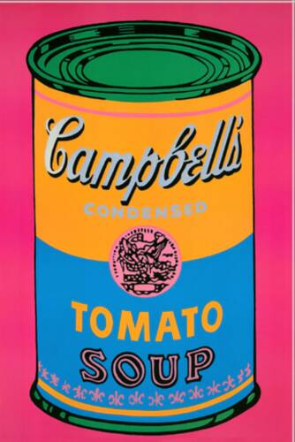 campbell 39 s soup can tomato pink 1968 andy warhol. Black Bedroom Furniture Sets. Home Design Ideas