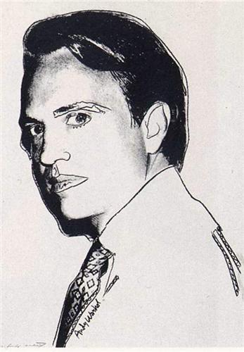 Carter Burden (white) - Andy Warhol