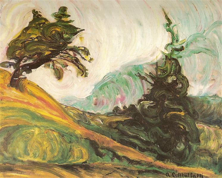 A ventania, 1916 - Anita Malfatti