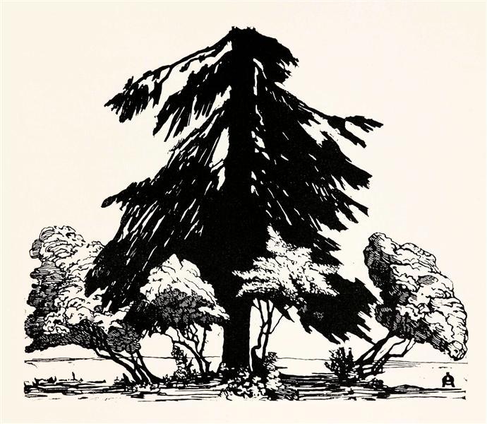 Pine tree, 1902 - Anna Ostroumova-Lebedeva
