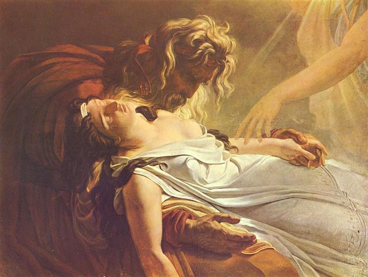 Malvine, Dying in the Arms of Fingal - Anne-Louis Girodet