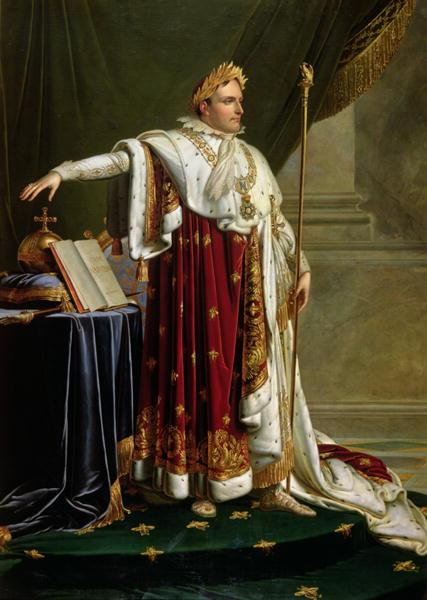Napoleon I in Coronation robes - Anne-Louis Girodet