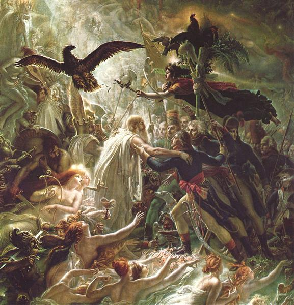 Ossian receiving the Ghosts of the French Heroes, 1801 - 安·路易·吉罗代·特里奥松
