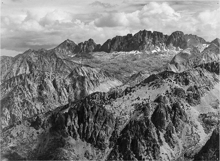 North Palisade from Windy Point - Ansel Adams