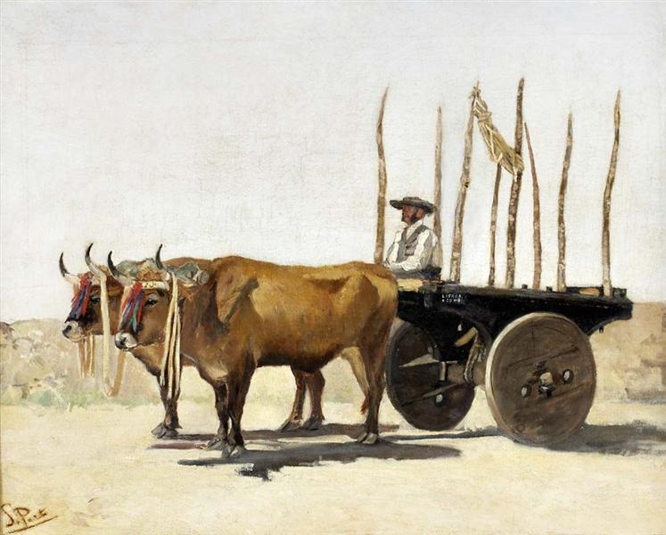 Carro de bois - António Carvalho de Silva Porto