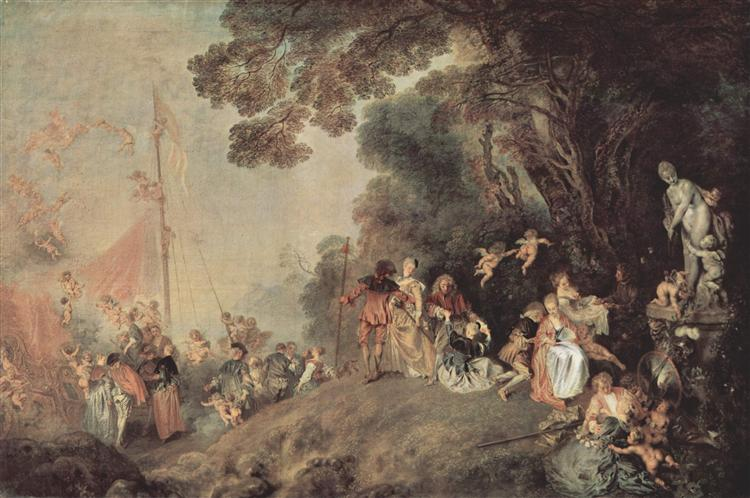 Pilgrimage on the Isle of Cythera, c.1718 - Antoine Watteau
