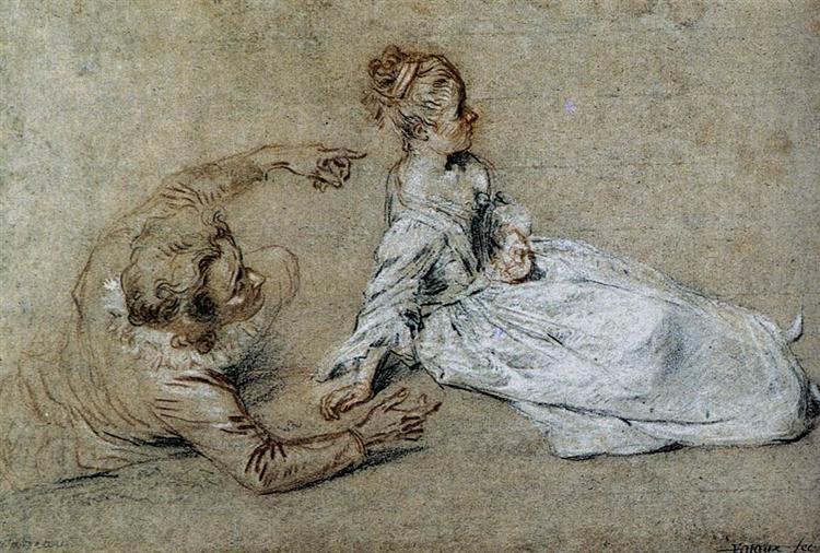 Sitting Couple, c.1716 - Antoine Watteau